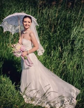 Irina, o mireasa deosebita intr-o rochie superba