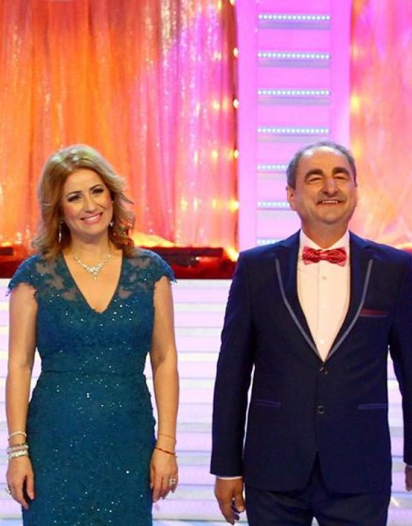 Valentina Fatu la petrecerea de Revelion alaturi de Vasile Muraru
